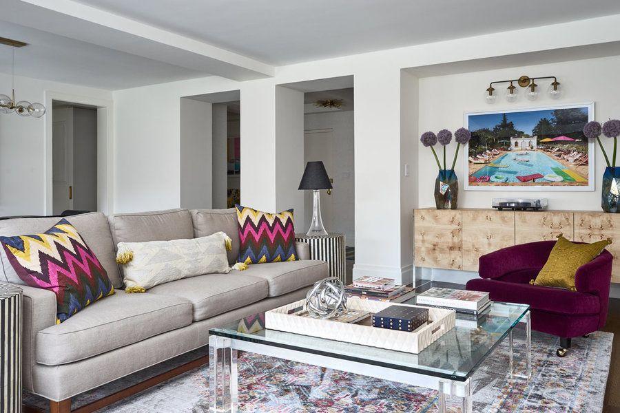 Living Room featuring Schumacher Martyn Lawrence Bullard