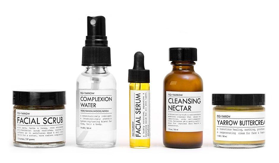 Monoqi Gesichtspflege Set Fig And Yarrow Facial Care Organic Cosmetics