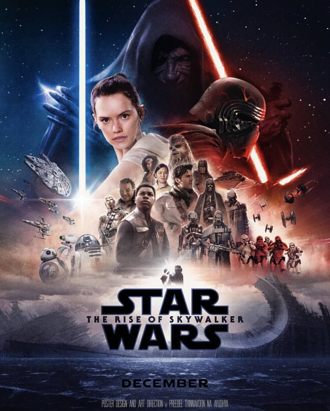 Star Wars Behind the Scenes on Instagram Star Wars Episode IX The Rise of Skywalker poster Art by decvader  Star Wars Episode IX The Rise of Skywalker poster Art b