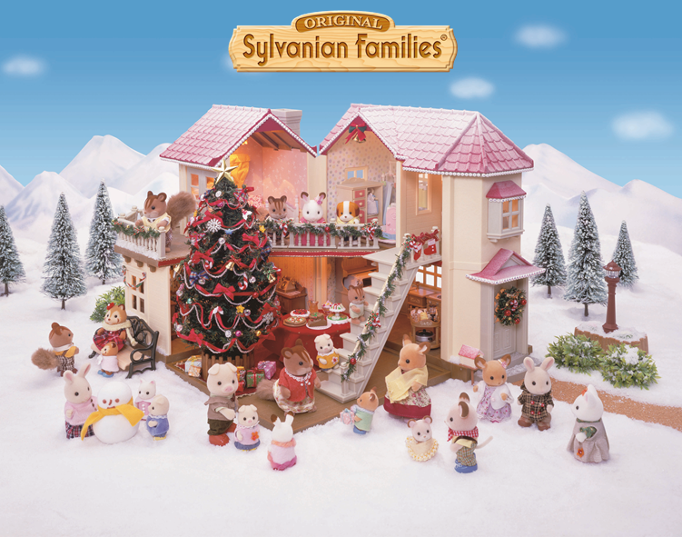 les sylvanian families ont install le sapin de no l dans. Black Bedroom Furniture Sets. Home Design Ideas