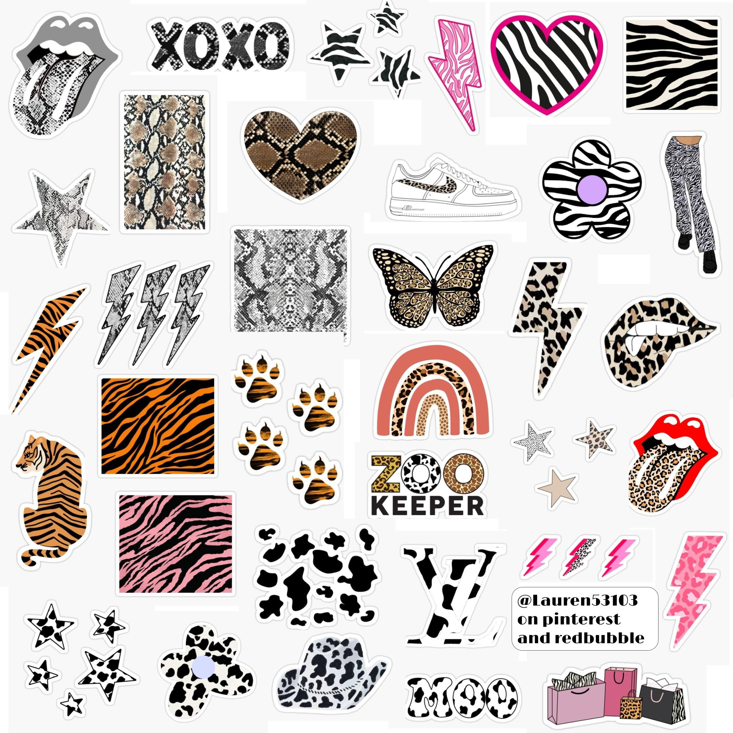 Animal Print Decals For Your Car Print Decals Coffee Tattoos Car [ 915 x 1500 Pixel ]