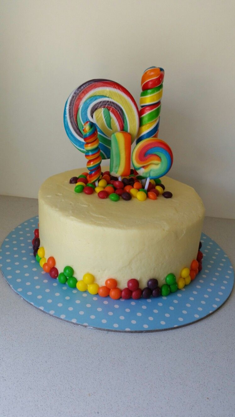 Lolly Pop Candy Cake Candy Birthday Cakes Lolly Cake Candy Cakes