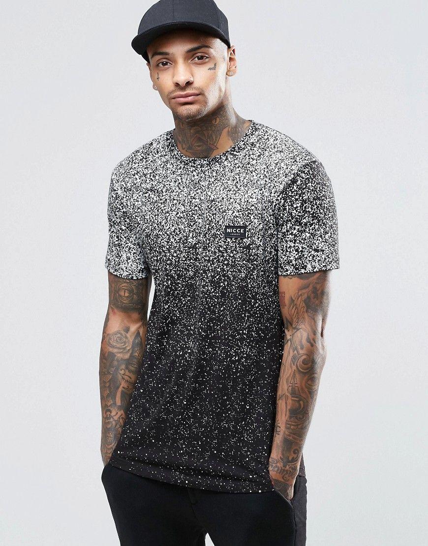 69dcc5d9d43 Imagen 1 de Camiseta con estampado moteado difuminado de Nicce London