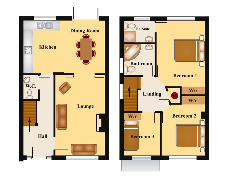 Townhouse floor plans bedroom townhouse floor plan for Small townhouse floor plans