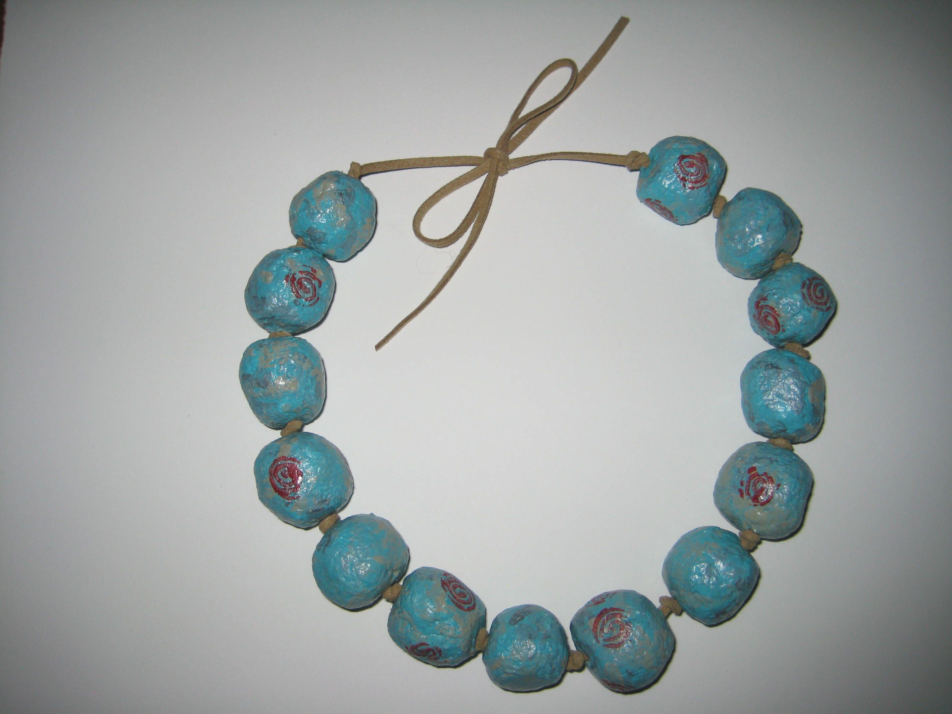 Paper Mache Bead Necklace Jewelry Crafts Handcrafted Jewelry Diy Jewelry