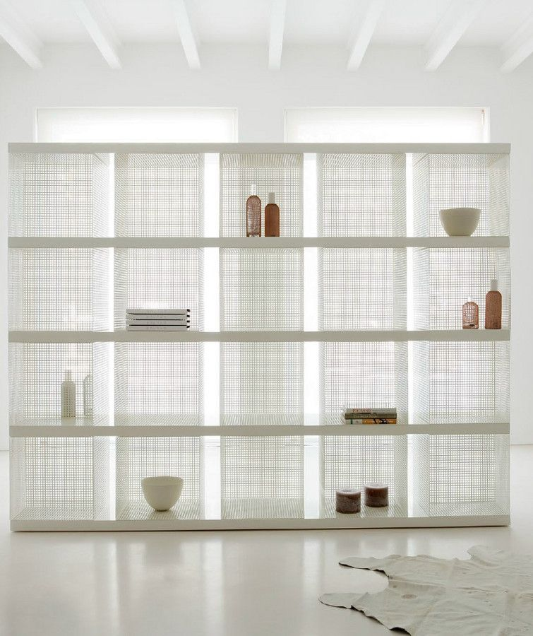 Double Sided Metal Bookcase Cubos Detroit By Baltus Collection White Interiors Minimal Baltusluxury Bookcase Design Furniture Furniture Design