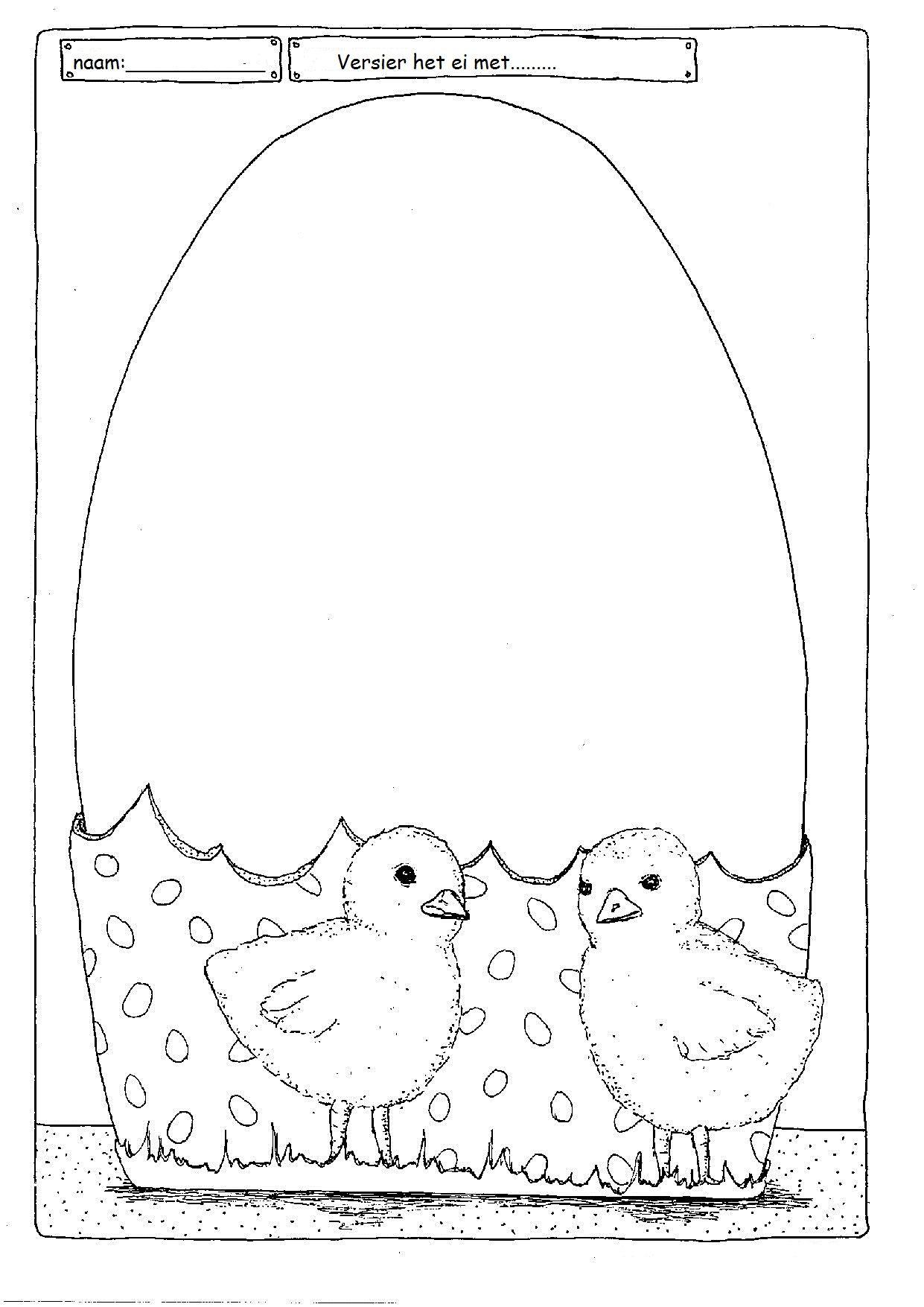 Versier Het Ei Pasen Kleurplaten Versieringen