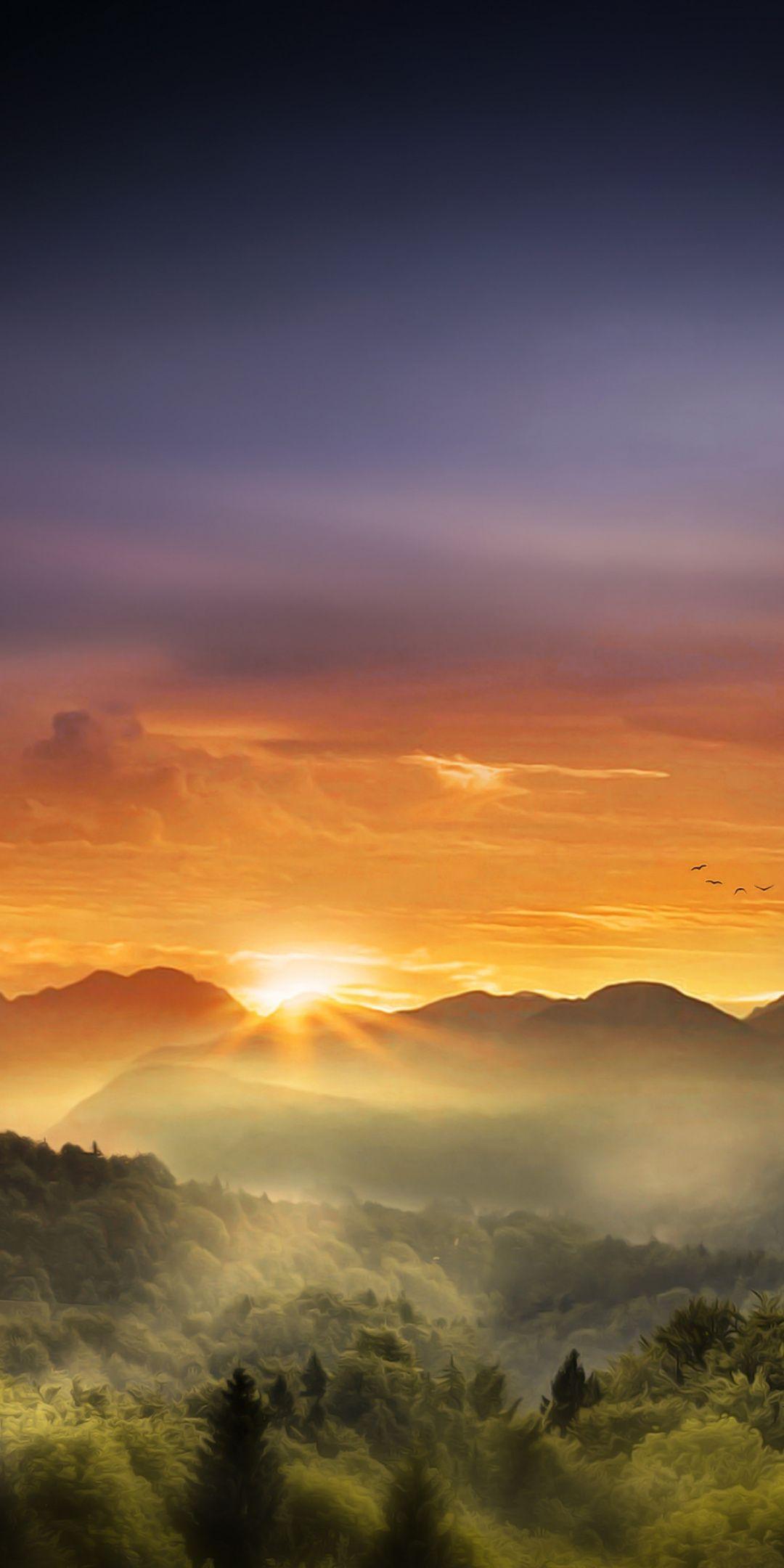 Horizon Sunrise Mountains Nature 1080x2160 Wallpaper Sunrises Nature Sunrise Wallpaper Beautiful Photos Of Nature