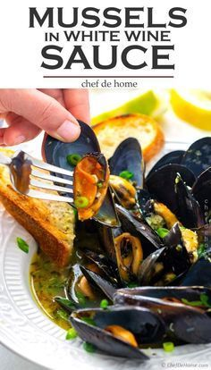 Learn to cook Mussels served just like in restaurants with delicious Garlic Whit... Learn to cook Mussels served just like in restaurants with delicious Garlic Whit...,