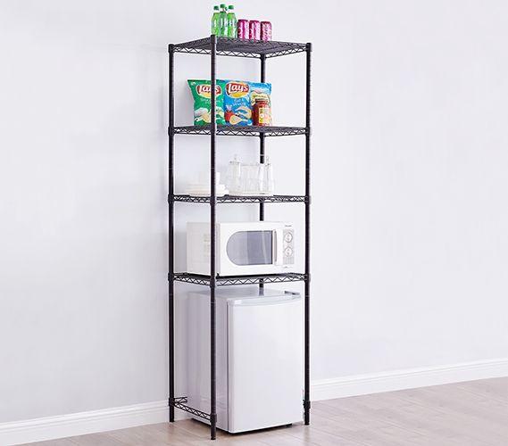 Suprima Extra Height Mini Shelf Supreme Black Dorm