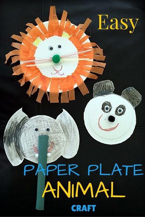 Easy Paper Plate Animal Craft Paper Plate Animals