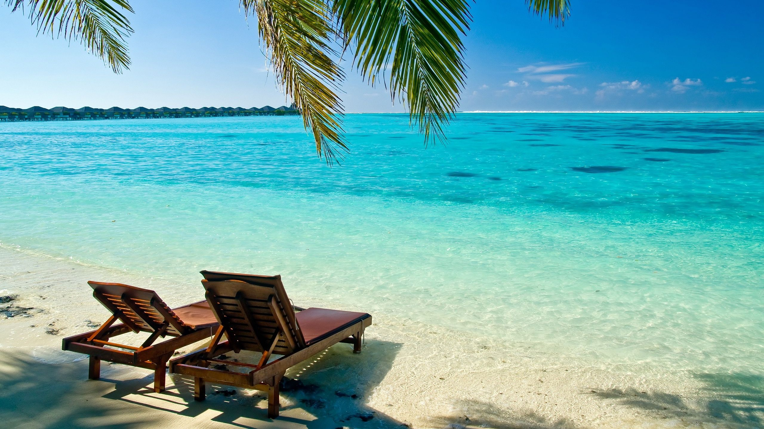 2560x1440 Maldives Tropical Beach Wallpaper Beach