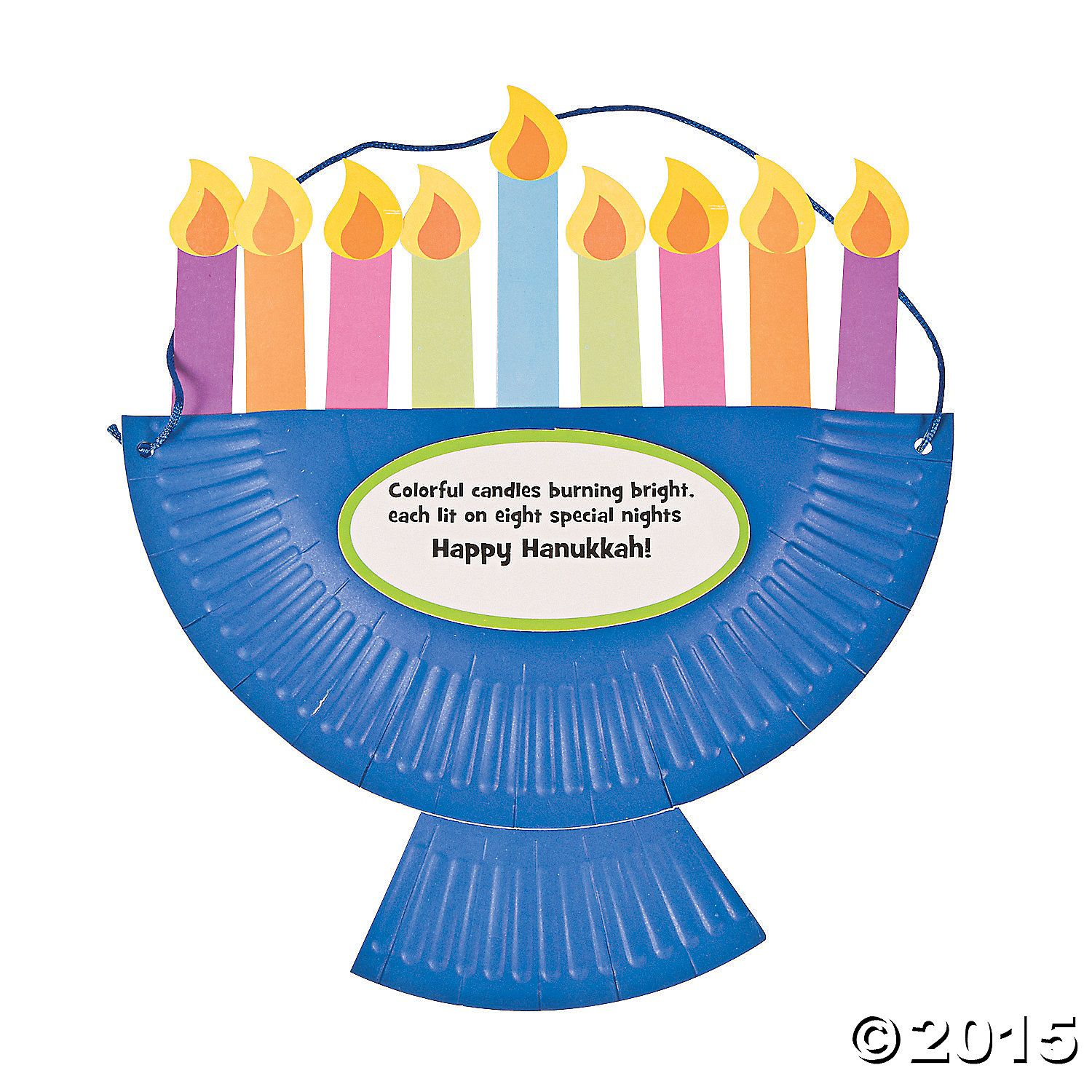 Alternate Paper Plate Hanging Menorah If We Can T Figure