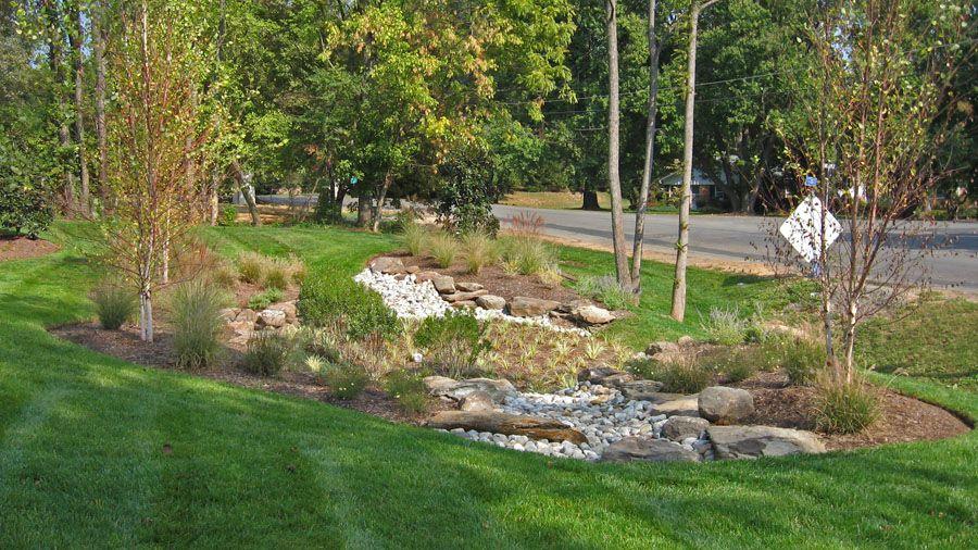 Rain Gardens, Stormwater Management, and Drainage Solutions ... on rainwater garden design, rose garden design, rose landscape design,