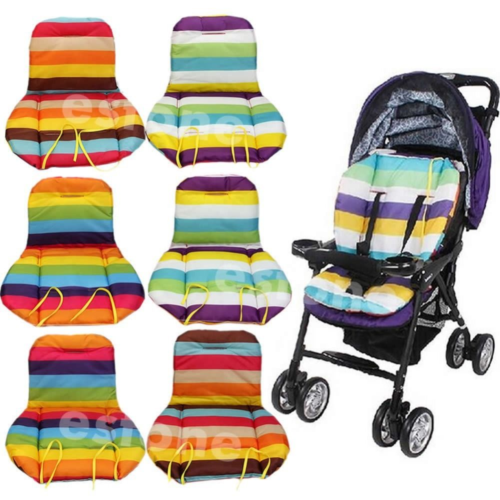 무료 배송 새로운 아기 유모차 쿠션 패드 유모차 패딩 라이너/자동차 좌석 패드 무지개 방수
