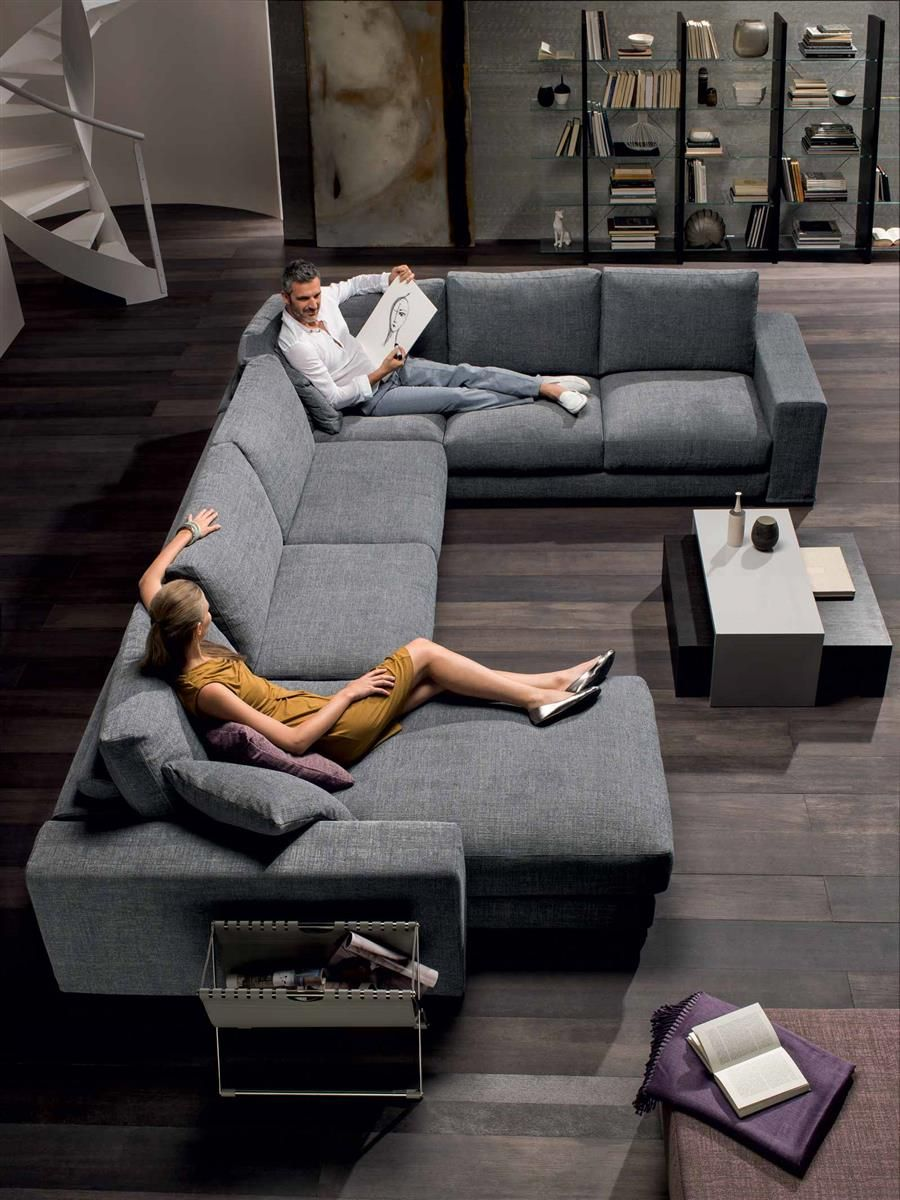 Leather Sectional Sofas For Modern Living Room Sofas Grandes