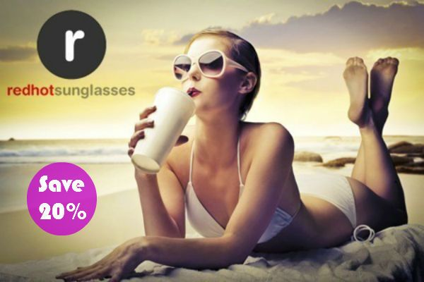 Invite your friends to Red Hot Sunglasses and save 20%.