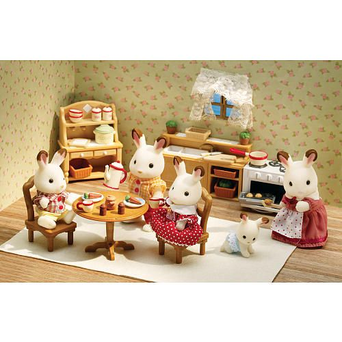 Vintage Calico Critters Deluxe Kitchen Set International Playthings Toys R Us