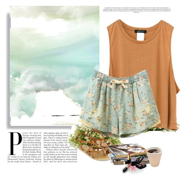 """""""PJ's"""" by laybearlasia ❤ liked on Polyvore featuring Monsoon, Nearly Natural and Chanel"""