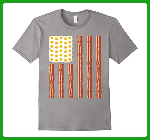 fe196234c52 Mens Bacon And Eggs American T-shirt Flag Day XL Slate - Cities countries  flags