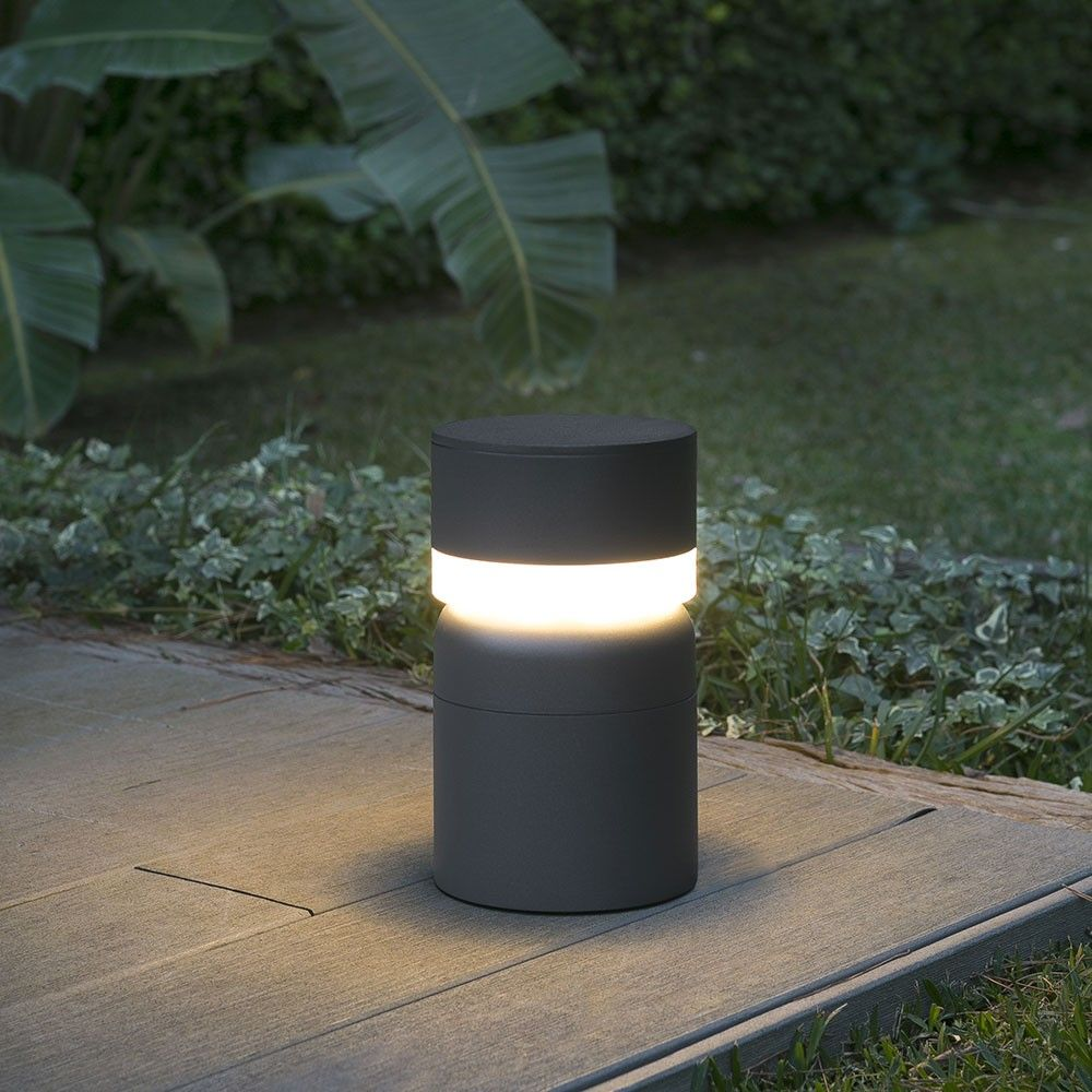 Eclairage Exterieur Gris Anthracite Borne Lumineuse Sete Led Gris Foncé In 2019 Outdoor Lighting