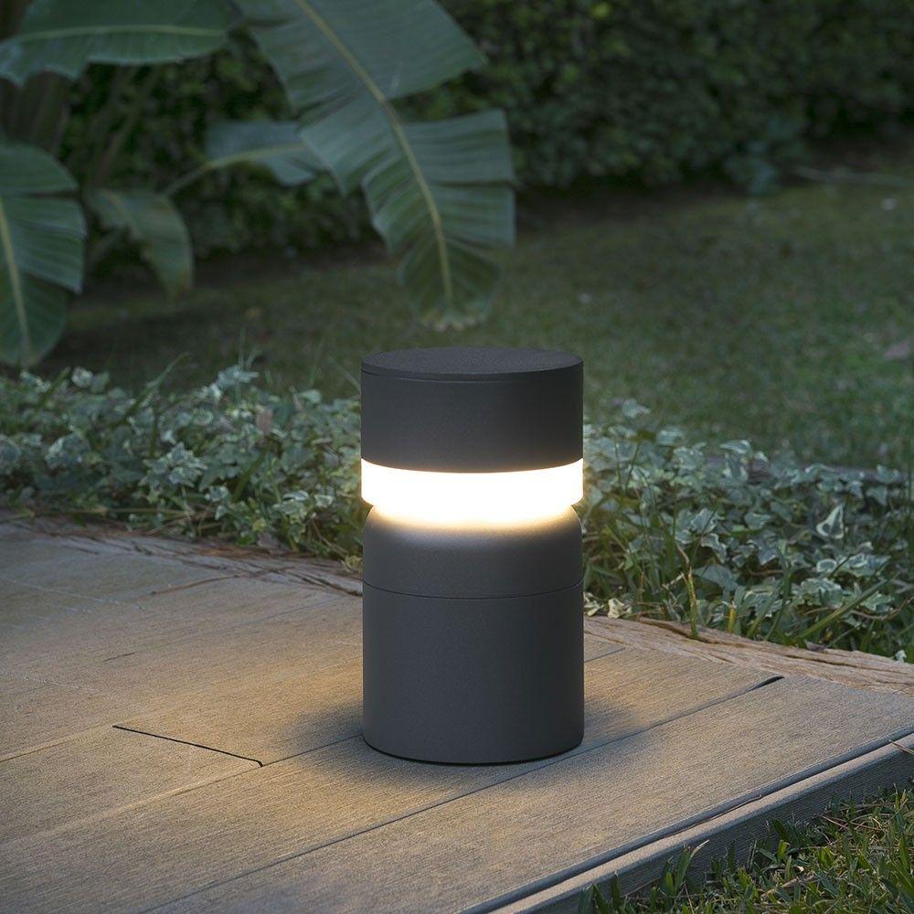 borne lumineuse sete led gris fonc son style gris. Black Bedroom Furniture Sets. Home Design Ideas