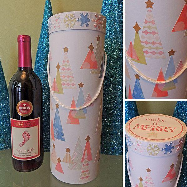 Buď Merry Víno Box podľa Donnatopia - karty a Papierové remeselné výrobky na Splitcoaststampers