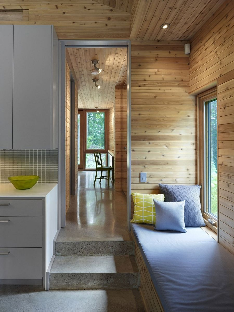Rustic wooden walls of the cabin house