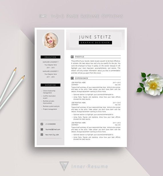 creative resume template for word with photo