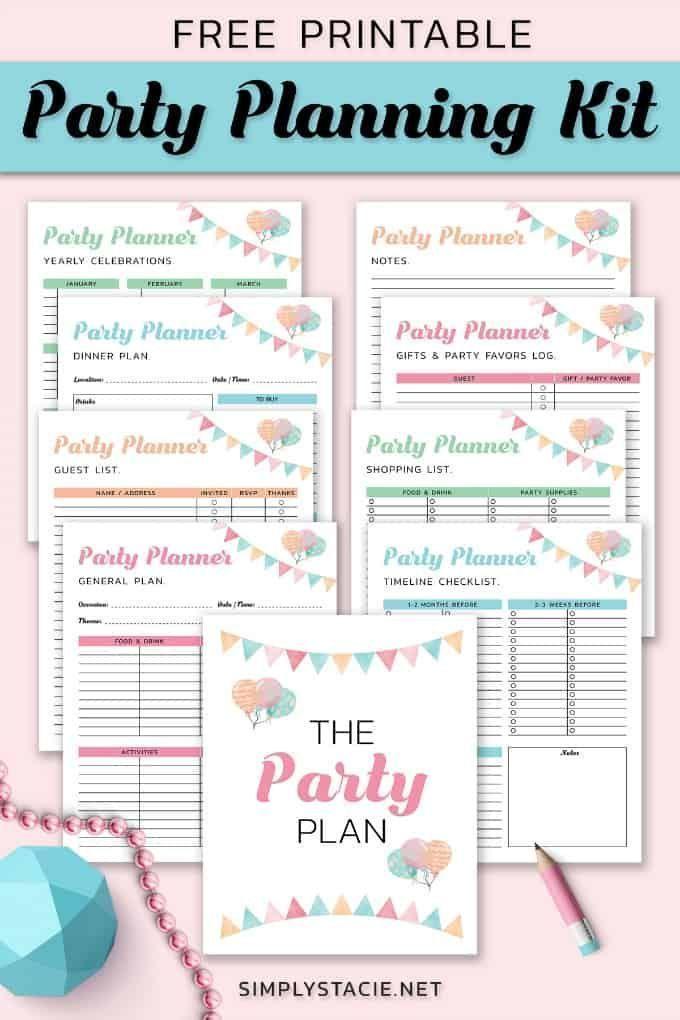 Photo of 9 kostenlose Partyplanungsdrucke, um die Dinge zu organisieren – For the Home – #Free # …