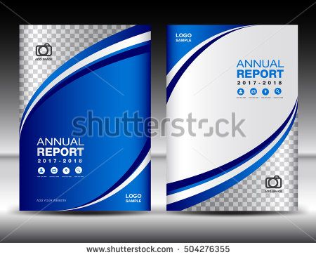 Blue Cover template, cover annual report, cover design business - business annual report template