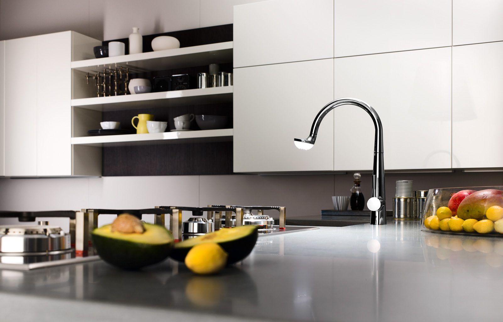 Miscelatore per cucina con doccetta, Nobili Luce LC00117 ...