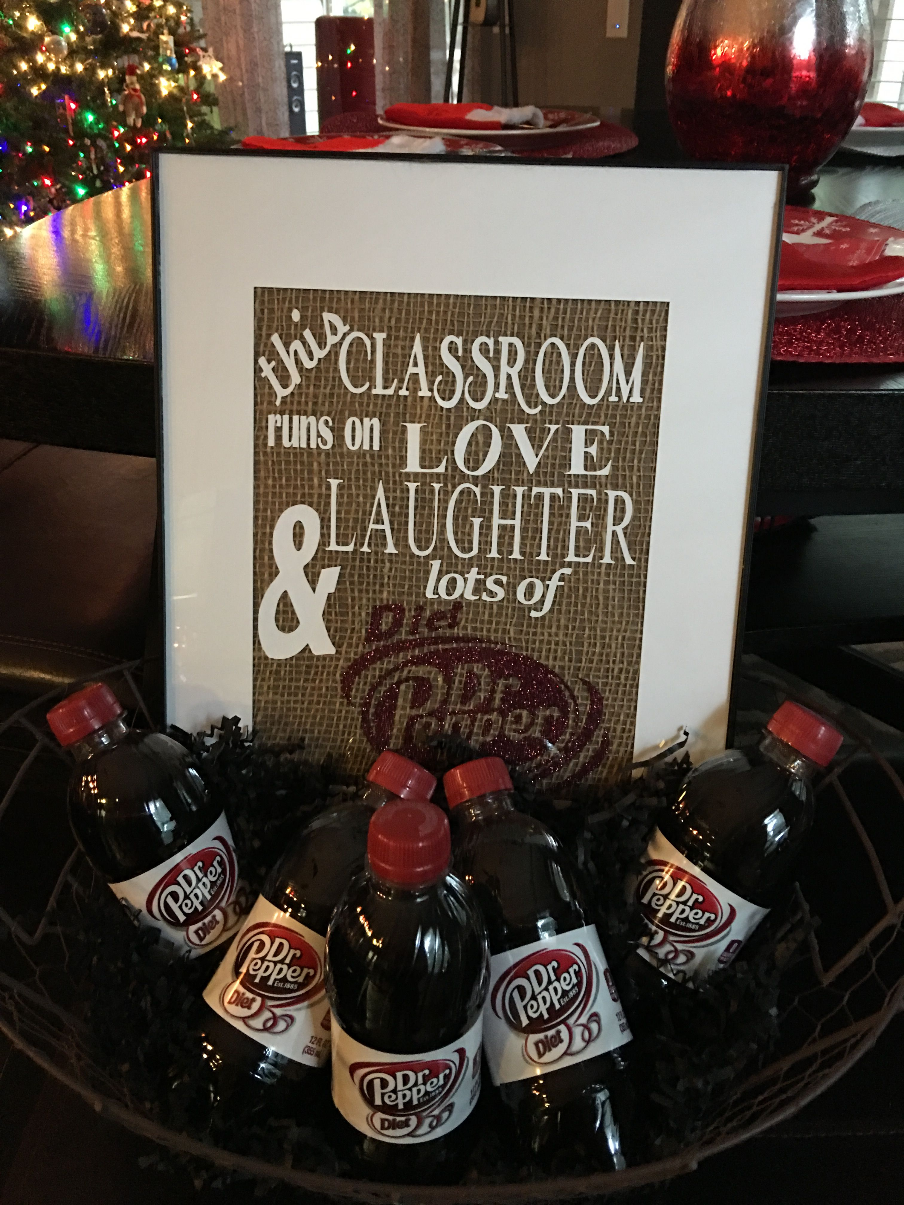 For A Teacher That Is Addicted To Diet Dr Pepper Fun Holiday Gift Gifts For Coworkers Holiday Cards Handmade