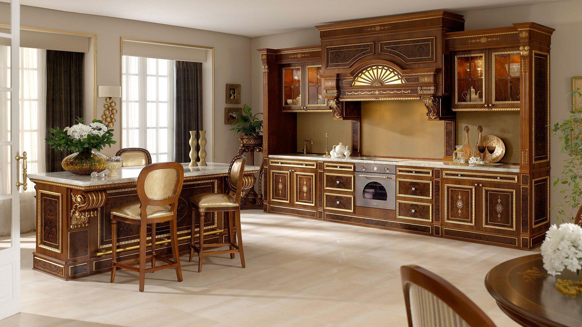 Cocina de lujo georgia muebles de lujo pic espacios for Muebles cocina clasicos