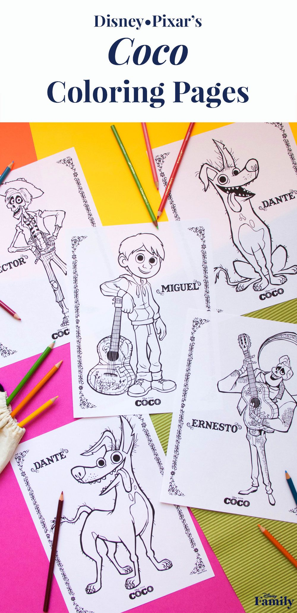 Get to know the characters with these ucocou coloring pages