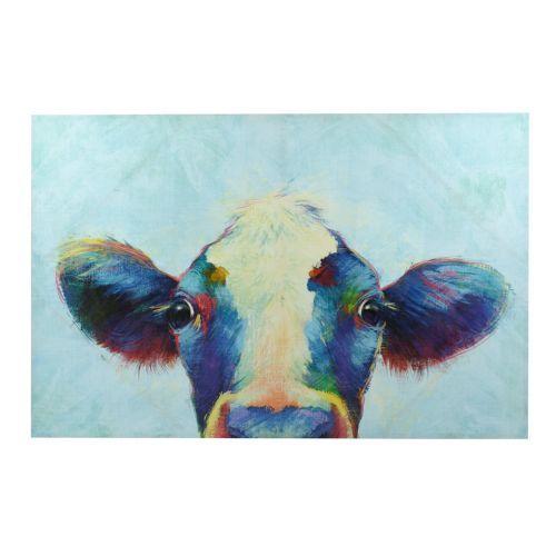 Peek A Moo Canvas Art Print Cow Canvas Canvas Art Prints