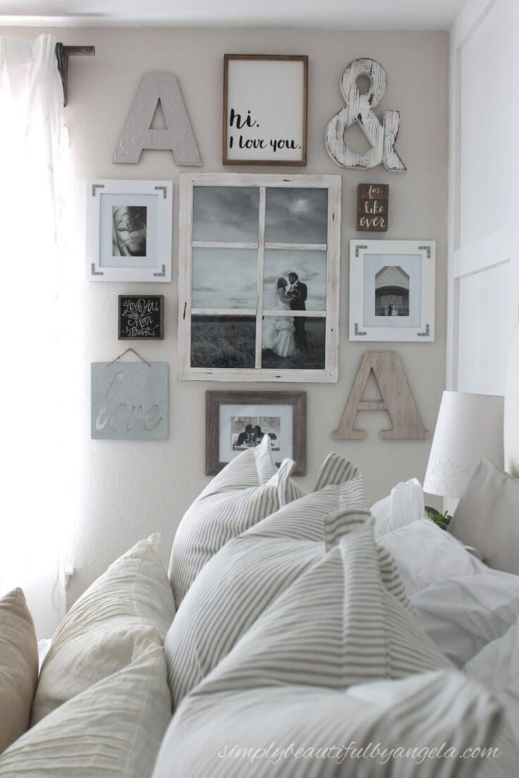 39 Rustic Farmhouse Bedroom Design And Decor Ideas To Transform Your Bedroom Master Bedroom Makeover Wall Decor Bedroom Master Bedrooms Decor