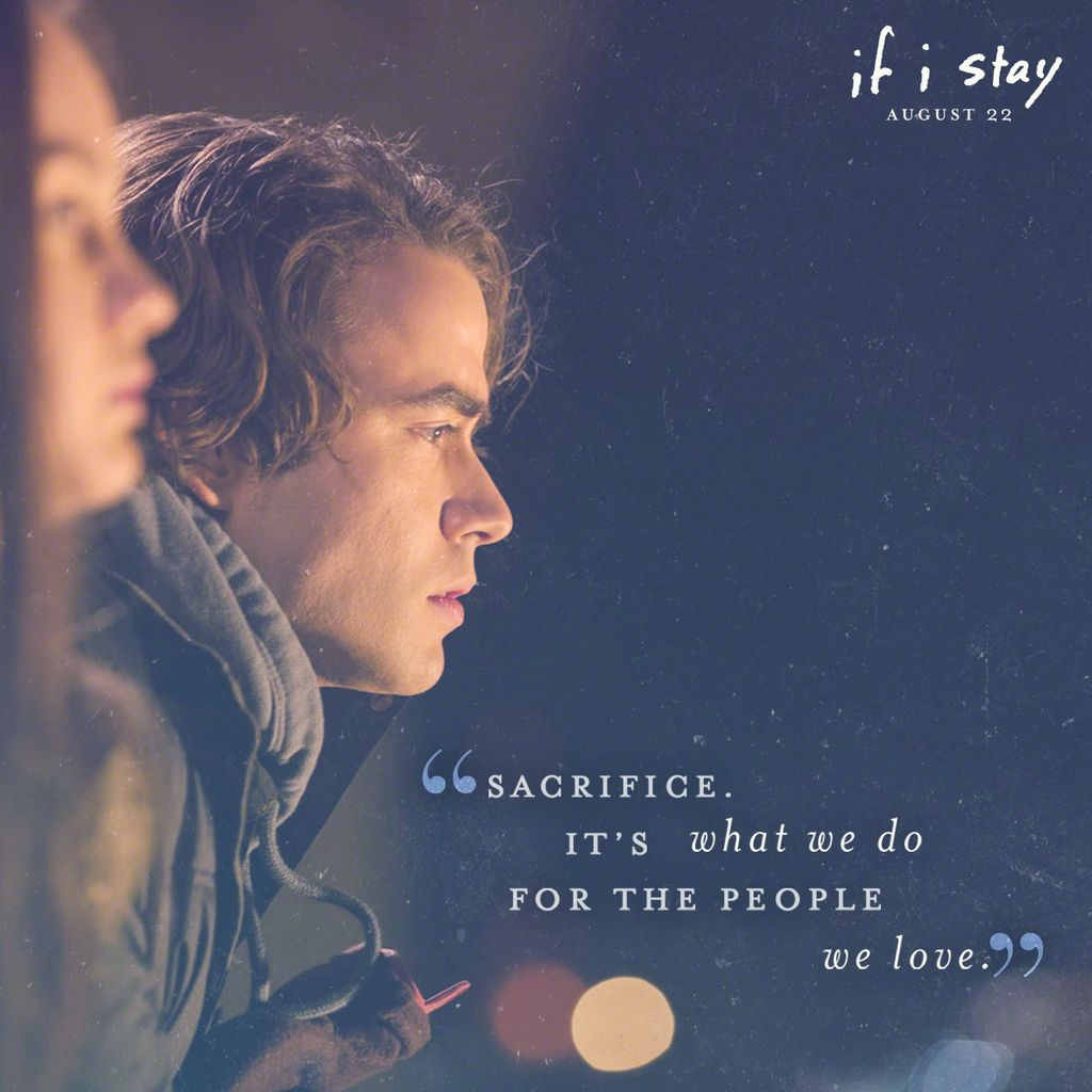 If I Stay If I Stay by Gayle Forman they did such an amazing job adapting the book into a movie