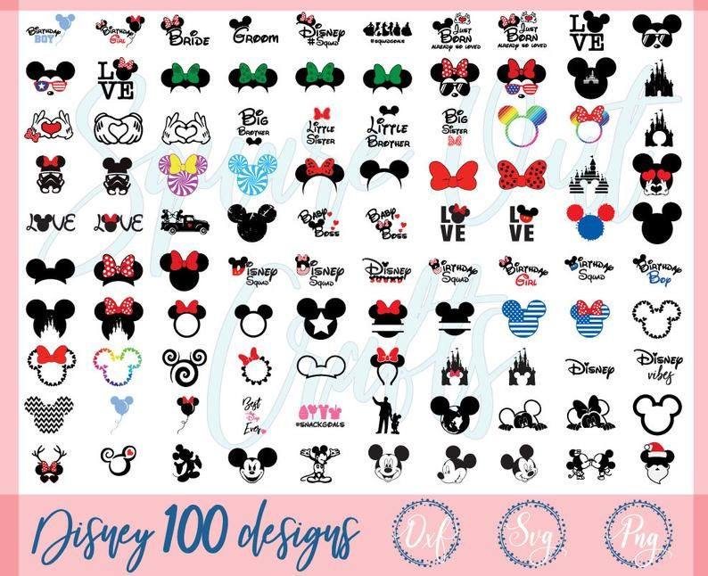 DISNEY SVG Bundle Mickey SVG Minnie svg Disney svg Disney
