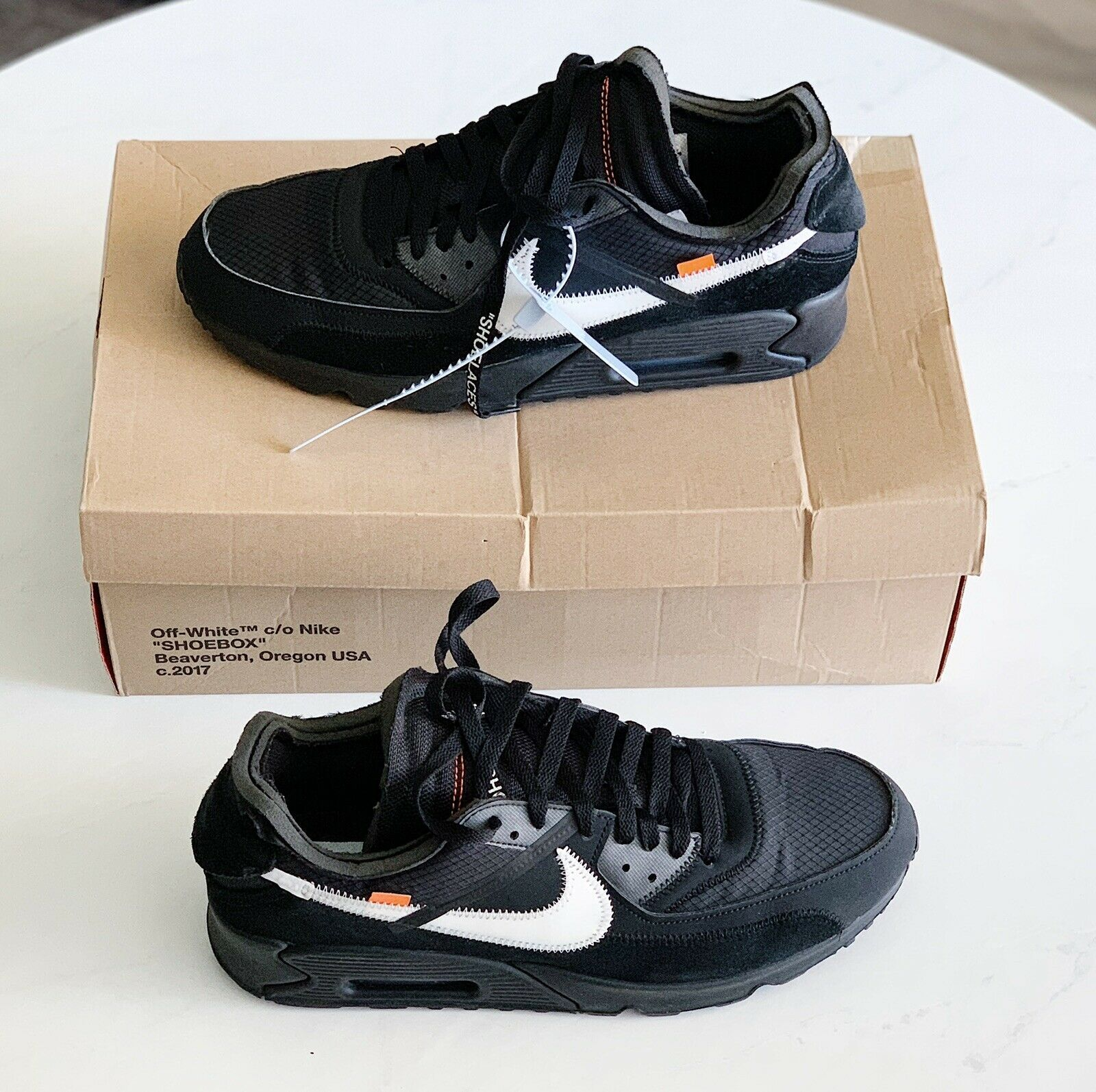 Details about off white x nike air max 90 black in 2020
