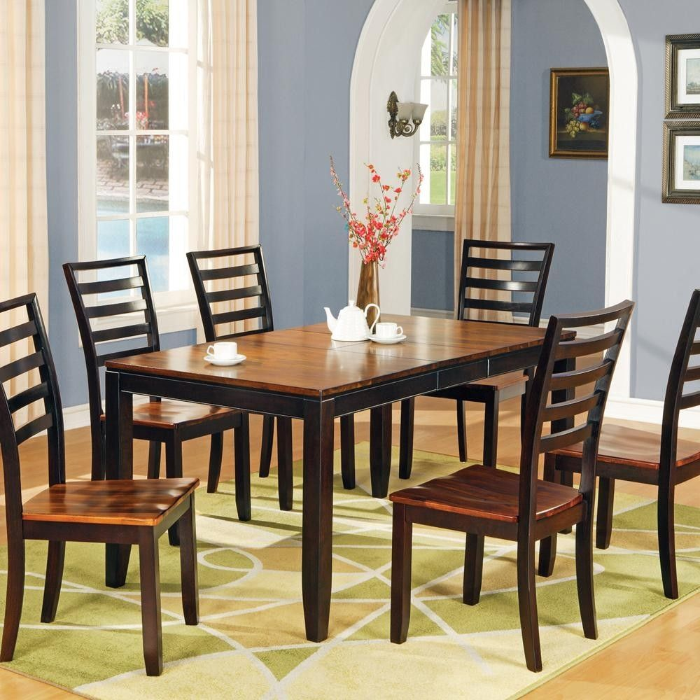 Genial Two Tone Dining Room Table