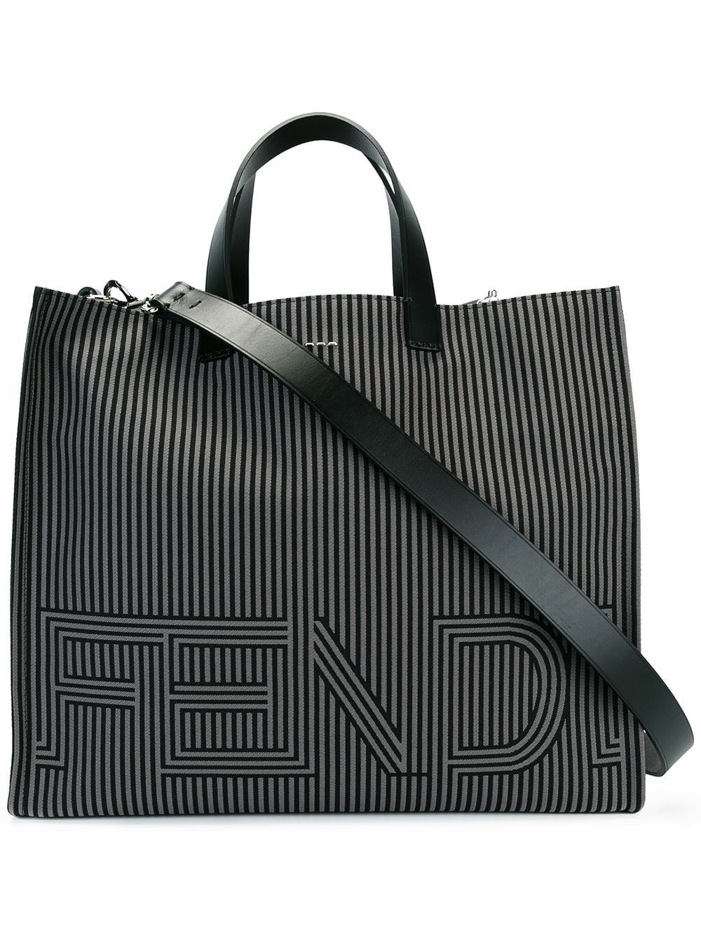 809cc478d4a1 ... discount fendi fendi two tone striped tote bag black. fendi bags a40f6  fdf04