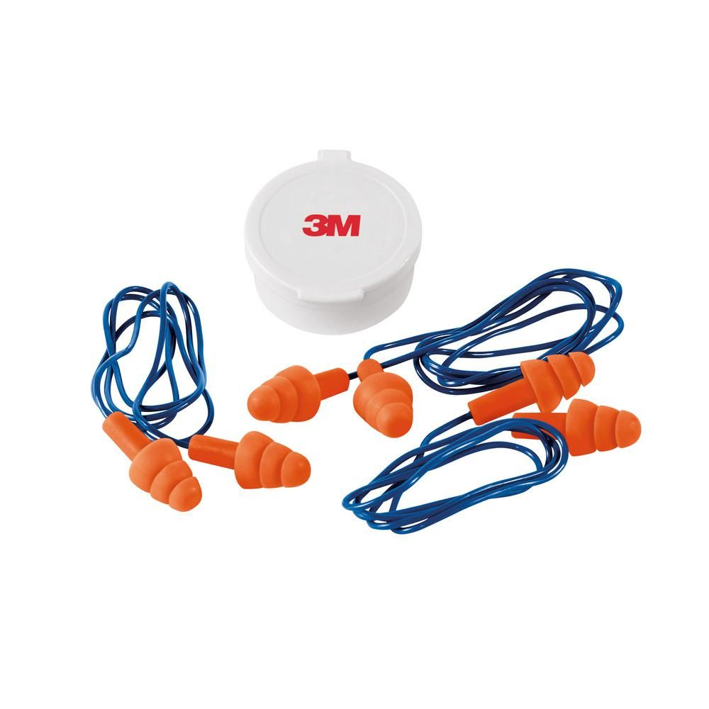 Photo of 3M Reusable Corded Ear Plugs (3-Pack) (Case of 10)-90716-3-10DC – The Home Depot