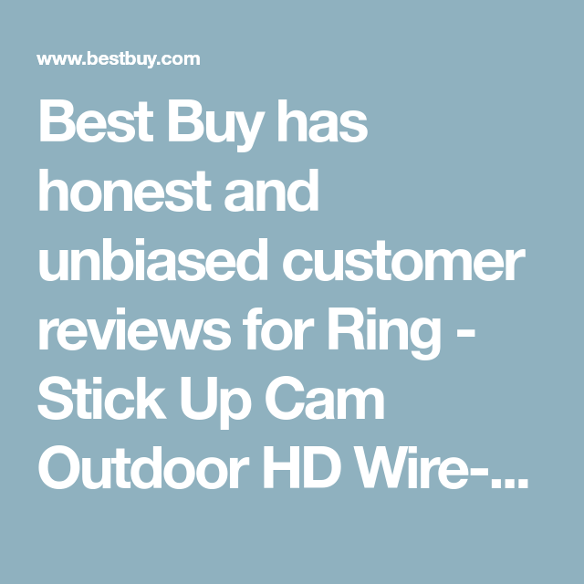 Ring Stick Up Cam Outdoor Hd Wire Free Security Camera Negro