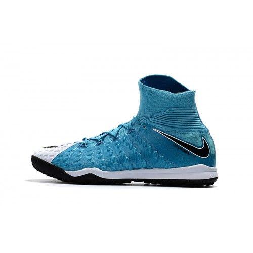 best service 58c48 a61fc Venta Nike Hypervenom Phantom III DF TF Azul Blanco Zapatos De Soccer