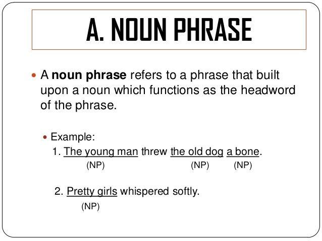 noun phrase resume