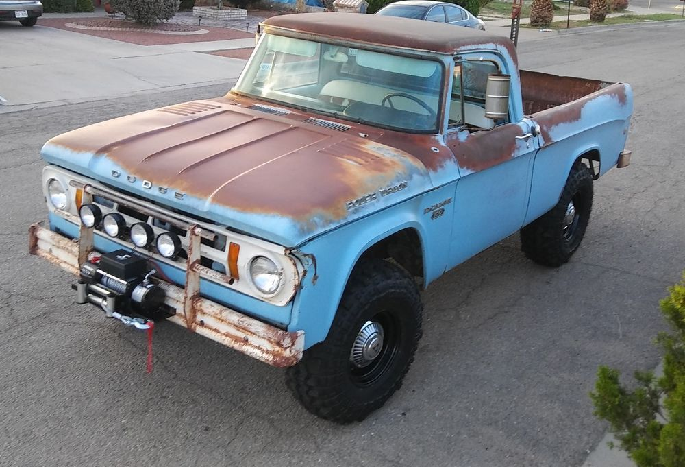 1968 Dodge Power Wagon W100 Patina Shop Truck 4X4 | eBay Motors ...