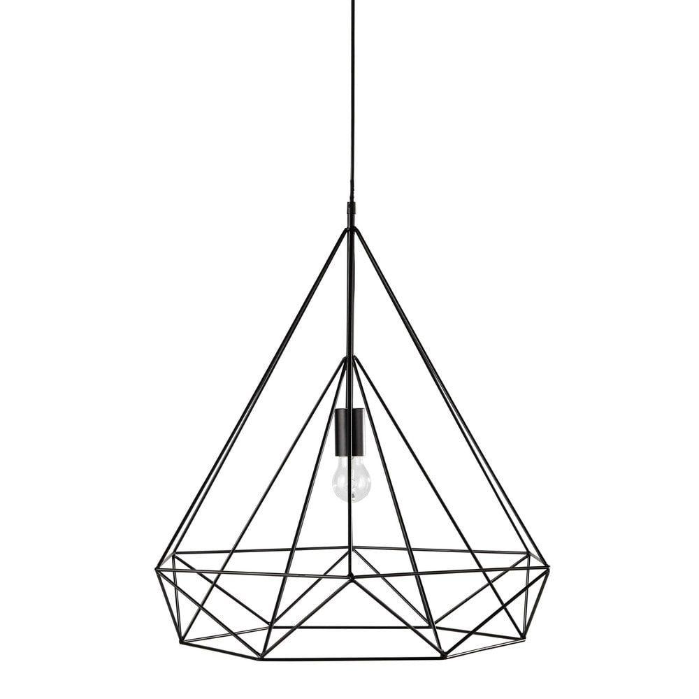 Hängeleuchte IRON aus Metall, D 60 cm, schwarz | Schwarz | Pinterest ...
