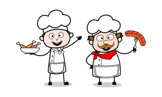 Presenting Non Veg Food Cartoon Waiter Male Chef Vector Illustration Free Download With Images Cartoon Clip Art Cartoon Food Cartoon
