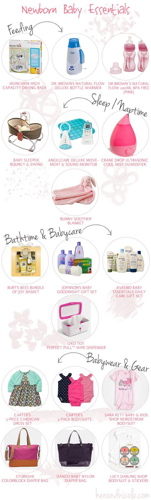 necessities for a newborn